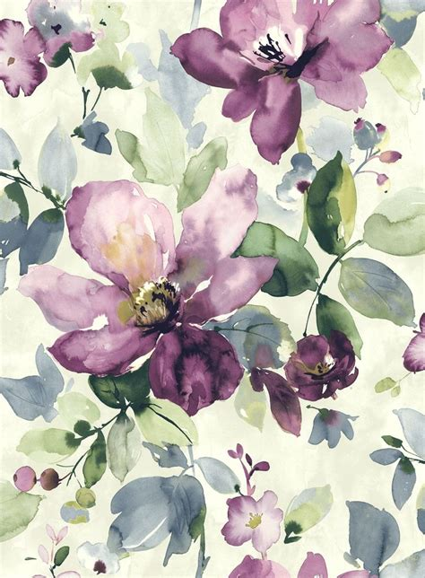 watercolor flower pattern wallpaper allegra watercolour flora and watercolor art