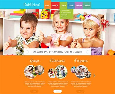 8 Best Preschool Website Design Gridgum Playgroup Website Templates