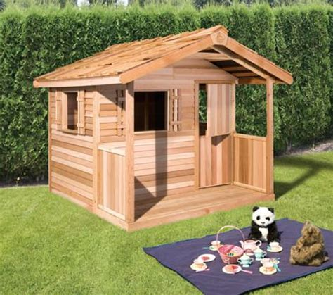 kids outdoor playhouse cedar playhouses cedarshed canada