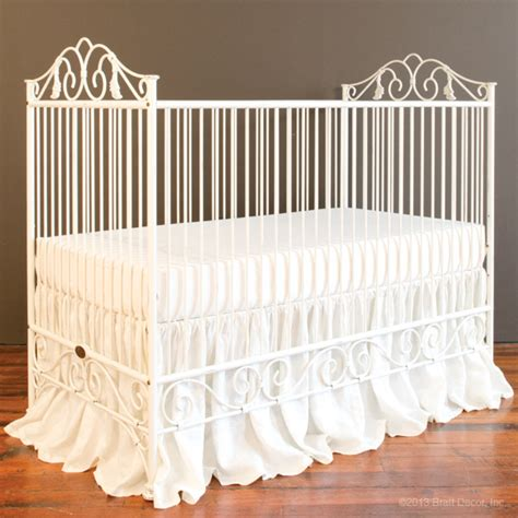 Iron Baby Bed by Casablanca Crib Distressed White