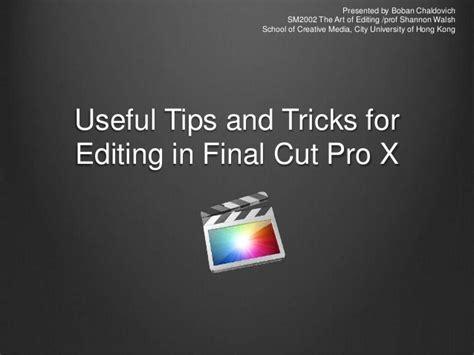 final cut pro editing tips fcpx tricks