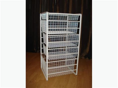 Wire Closet Drawers by Wire Mesh Closet Organizer Dresser Parksville Nanaimo