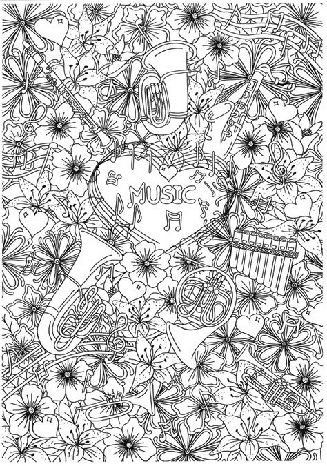 zendoodle coloring pages for adults 325 best music coloring pages for adults images on