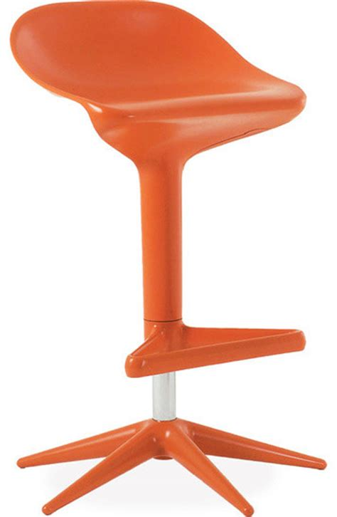 spoon stool orange modern bar stools and counter