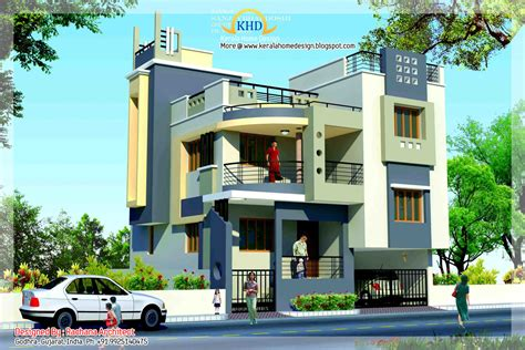 duplex house plan and elevation sq ft kerala home