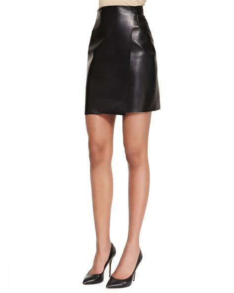 Skirt Black 1 adam lippes leather wrap skirt in black lyst