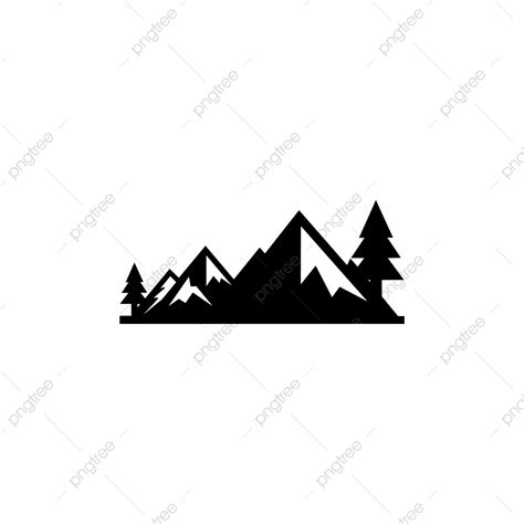 mountains vector mountain range silhouette isolated vector