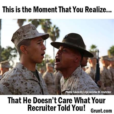 Drill Sergeant Meme - usmc boot c lol why is his cover so far back on his