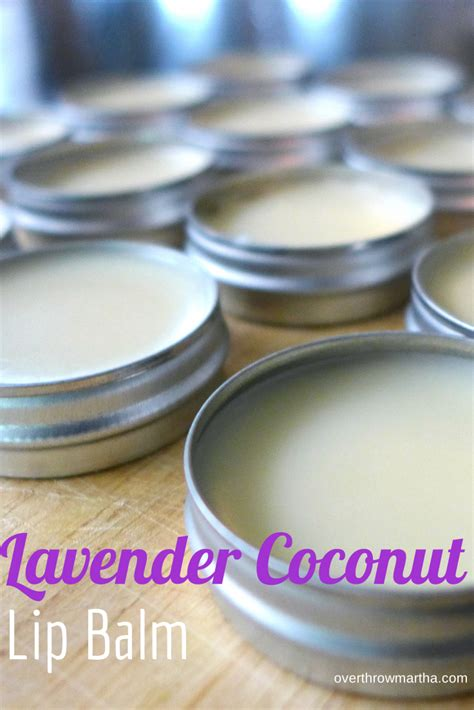 Lavender Balm easy diy lavender coconut lip balm overthrow martha