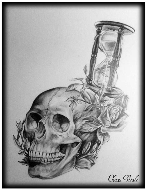 skull hourglass and roses ritual arts tattoo amp body