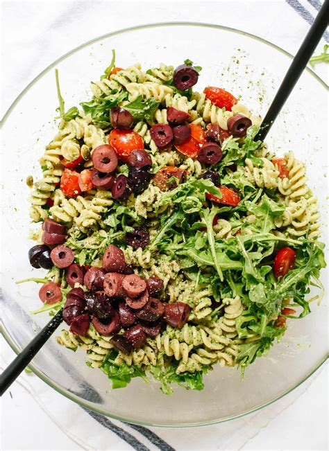 pasta salad pesto pesto pasta salad recipe cookie and kate