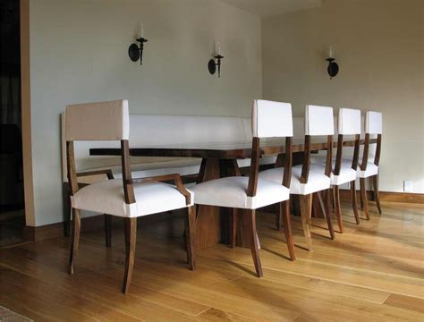 banquette dining set custom made luca dining set with banquette by costantini