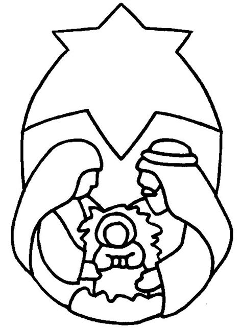 simple nativity coloring page the nativity christmas coloring pages 2 pinterest