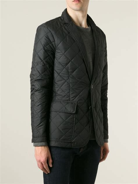 Polo Ralph Quilted by Polo Ralph Quilted Blazer In Black For Lyst
