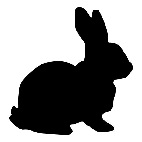 free silhouette images rabbit silhouette free vector 4vector