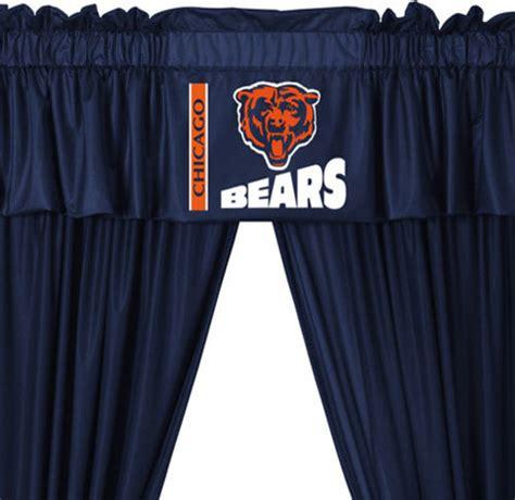 drapes chicago nfl chicago bears 5 piece long curtain drapes valance set