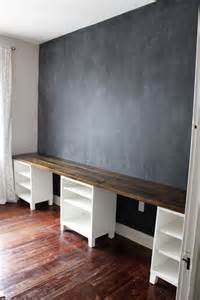 Childrens Bookcases Ikea Diy 12 Foot Long Double Desk Icing On The Cake Blog