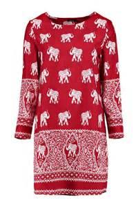 boohoo womens mirelle elephant print long sleeve shift dress