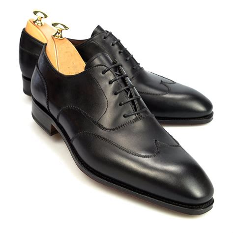 handmade mens oxford shoes handmade black leather shoes dress shoes wingtip