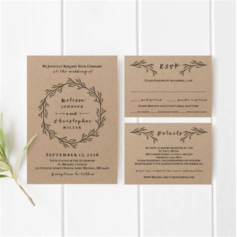 printable paper invitations printable wedding invitation template set 2463647 weddbook