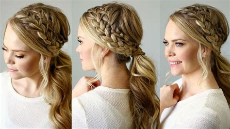 hair styles in two ponies double braided ponytail missy sue youtube