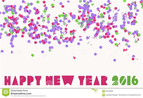Free New Year Card Template 2016 by Happy New Year 2016 Confetti Banner Stock
