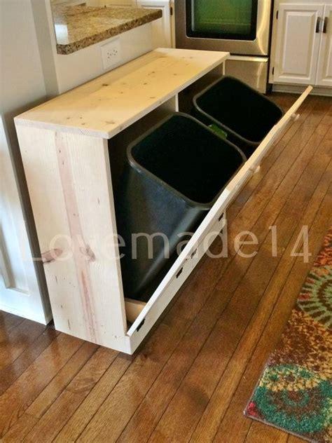 double trash recycling bin wood de 25 bedste id 233 er inden for trash bins p 229 pinterest