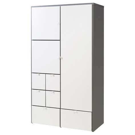 kleiderschrank visthus visthus wardrobe grey white 122x59x216 cm ikea