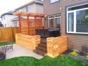 Kitchen Furniture Edmonton cedar planters with privacy screen and pergola craftsman