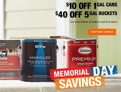 home depot 10 home depot deals 10 annuals paint sale more