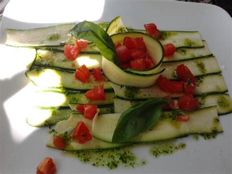 la parata bagno vignoni carpaccio di zucchine picture of ristorante la parata