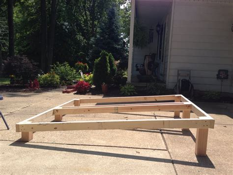 raising bed frame methods of raising a bed for inclined bed therapy