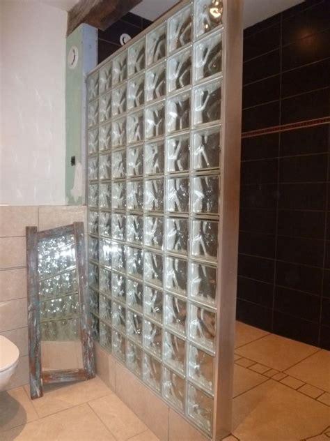 carreaux de verre salle de bain briques de verre pour salle de bain lumineuse cloison paroi