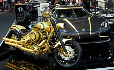 gold motorcycle at 880 000 this gold plated and encrusted