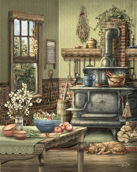 Grandmother S Kitchen grandmother s kitchen painting by beverly levi