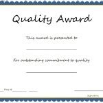 quality certificate template sales award certificate template sle templates