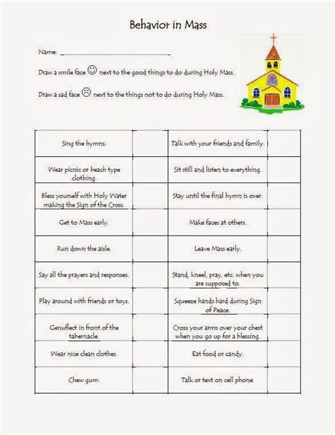 Catholic Worksheets For by The Catholic Toolbox