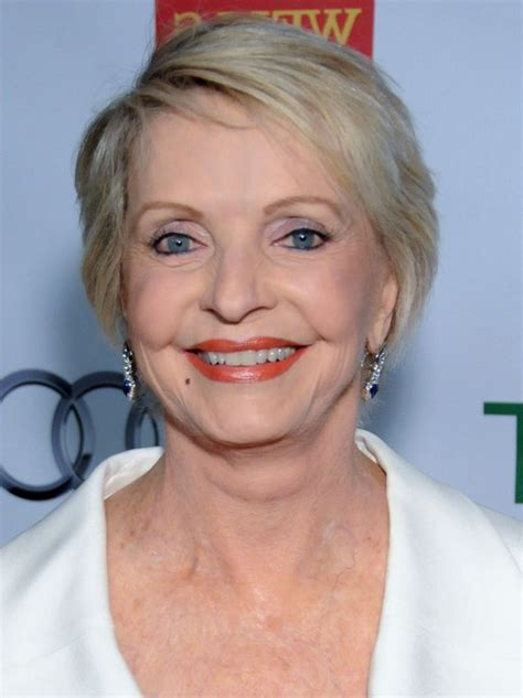 mature women hairstyles over 70 florence henderson side parted short haircut with bangs