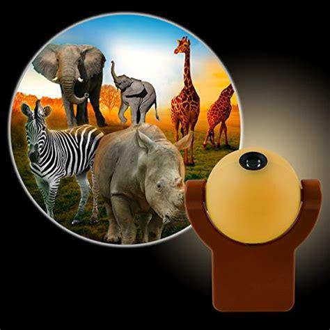 jungle animal night light projectables led plug in night light safari animals