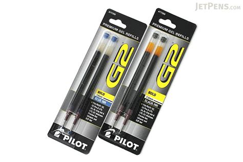 Pen Paper Pilot Pen Refill G2 pilot g2 gel pen refill 1 0 mm blue pack of 2 jetpens