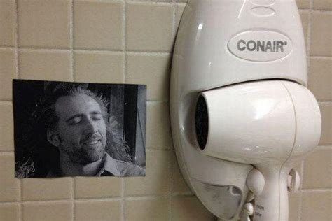 Conair Hair Dryer Nicolas Cage nicolas cage blowing hair from con air sports picture