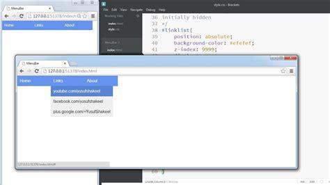 design menu bar using html html5 create custom navigation bar using html5 and css
