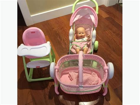 Baby Doll Stroller Crib And Highchair by Fisher Price High Chair Stroller Crib And Doll Saanich