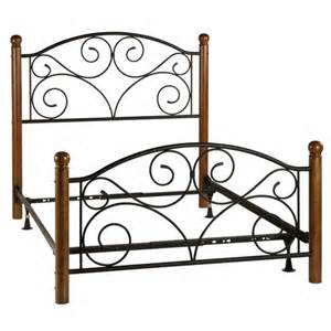 Ironwood Bed Frames And Mattress Wrought Iron And Wood Scrollwork Bed Sturbridge Yankee