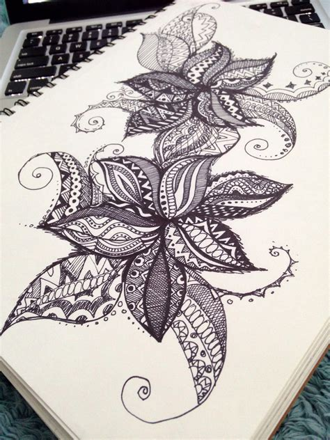 doodle flowers explosion doodle drawing 3 doodle sharpie drawing by maryana kostyuk