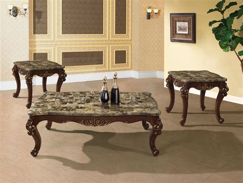 traditional occasional cocktail coffee table end table set