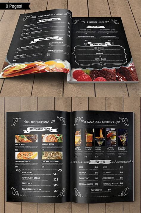 menu with pictures template 27 restaurant menu templates with creative designs