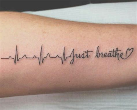 heartbeat tattoo breathe breathe symbols pictures to pin on pinterest tattooskid