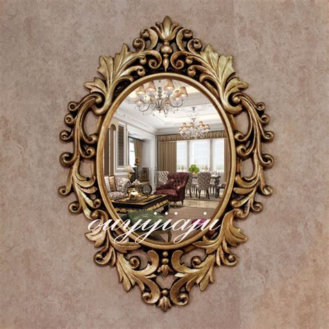 large big decorative cosmetic antique oval wall mirror