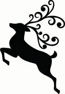 Reindeer Silhouette Outline by I Think I M In With This Shape From The Silhouette Store My Style